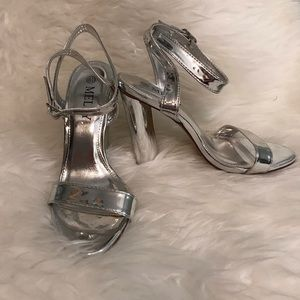 "Shoes - ""Chrome"" Silver Heels"